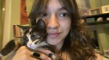 Angela Paramoshin with cat