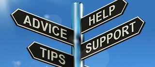 Advice support help logo