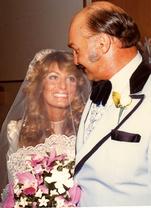 Cyn wedding with dad 1975
