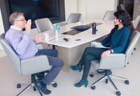Bill Gates and Henna Hundal