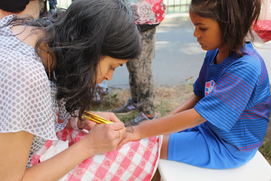 Pear Festival with henna paintng 2
